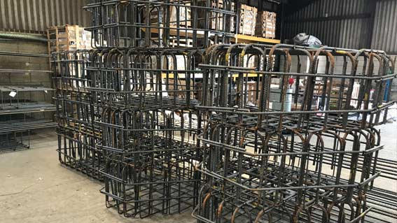 prefabricated steel pile caps and cages